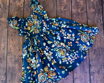 Flutter sleeve summer dress - toddler summer dress - toddler floral dress - flutter sleeve dress - toddler cap sleeve dress - summer dress