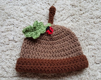 Crochet Acorn Hat