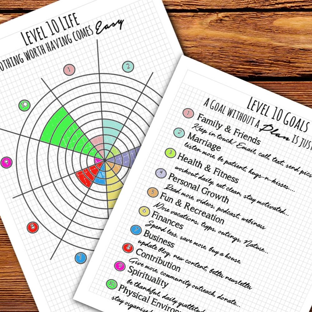Bullet Journal / Planner Level 10 Life inserts