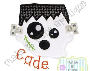 Applique Embroidery Halloween Frankenstein Ghost Machine Applique Design
