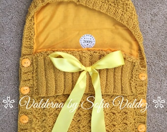 Baby Cocoon Yellow *Knit *Crochet (NEWBORN)