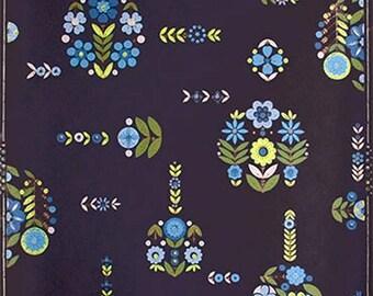 1950s Original Floral Wallpaper -  Atomic Era Mod Flowers Pop Art Vintage