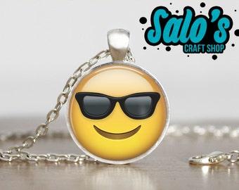 FREE SHIPPING cool sunglasess emoji pendant