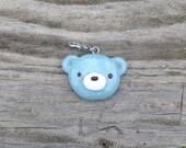 Blue Bear Handmade Stitch Marker or Progress Keeper Charm