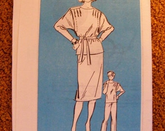 51% OFF Slouchy Top / Blouse / Skirt / Pants Uncut 1980s Mail Order Anne Adams Sewing Pattern 4111 Size 10 12 14