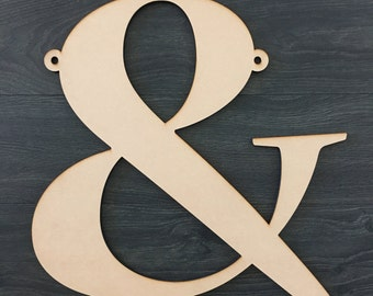 Ampersand Laser Cut Chair Sign