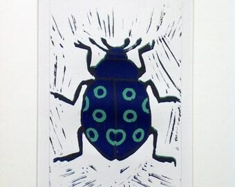 Green polo mint beetle