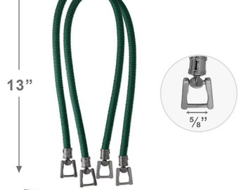 """27.5"""" Synthetic Cording Handbag Handles with metal buckle by 1 pair, HD-122"""
