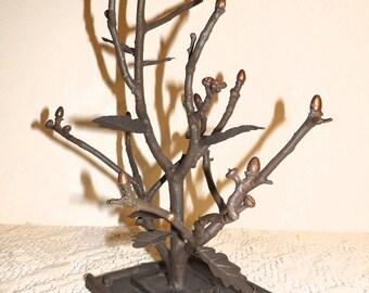 Metal Copper Colored Sculpture Organic Home Decor