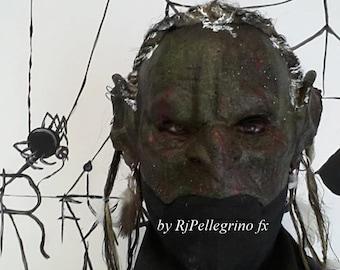 Goblin Mask with passamontagna/balaclava and teeth/denti