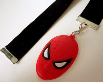 Black Velvet Bookmark w/spiderman charm