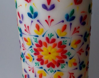 """Hand painted candles """" Harmony"""" design"""