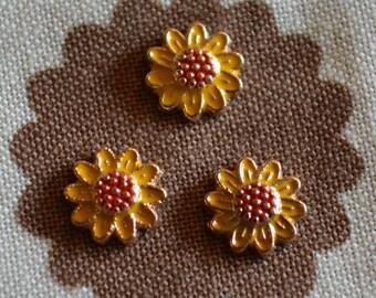 Sunflower floating locket charm