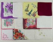 Lot of 1 Dozen Assorted Vintage Hankies Handkerchiefs  (Lot #W12)