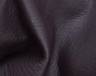 "Bitter Chocolate Leather Cow Hide 4"" x 6"" Pre-cut 3 ounces flat grain TA-29800 (Sec. 3,Shelf 5,B,Box 3)"