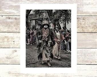 ZU & LU -Zulu Krewe on Mardi Gras New Orleans-Fine Art Photograph-Limited Edition of 250