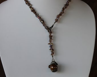 """25"""" adjustable necklace and earrings set"""