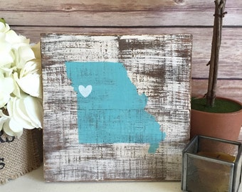 Missouri Pallet Sign - Missouri Custom Wood State Sign - Missouri State Sign