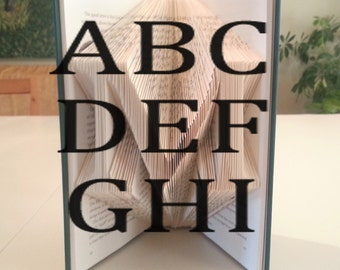 Book Folding Patterns: Capital Letters