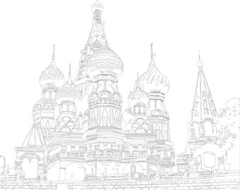 St basil etsy for Cathedral coloring pages