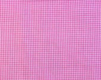 Pink Check Fabric | cotton fabric by the yard | quilting fabric | clothing fabric | summer fabric | pink gingham fabric | fabric for girls