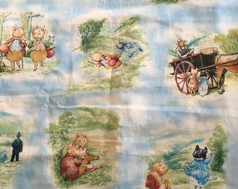 Beatrix Potter - Pigling Bland by Quilting Treasures - 2008 OOP - 1/2 yard