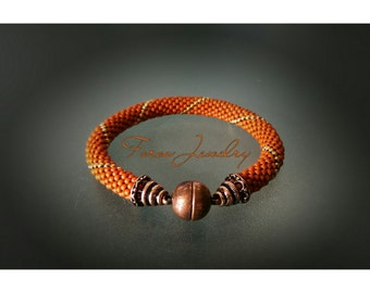 """Bead Crochet Bracelet """"Shanara"""" (Elegant Bracelet, Beaded Bracelet)"""