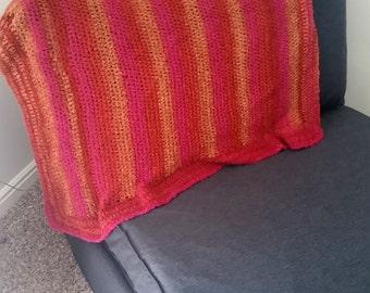 Warm Multicolored Lap Blanket