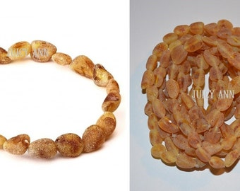 Unpolished Raw Baltic Amber Adult Sized Bracelets