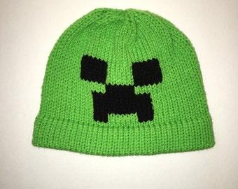 Creeper Inspired Beanie - Creeper Hat - Minecraft - Monster - Creeper Beanie