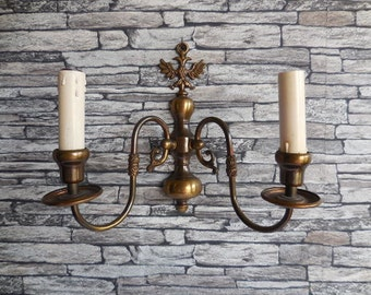 Country Electric Wall Sconces : Vintage electric wall sconce Etsy