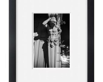 City night, black and white street photography wall art,photo print
