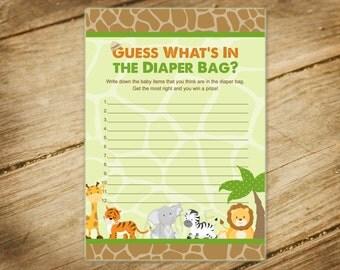 baby shower game safari animals jungle safari themed diaper bag game