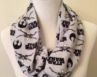 Star Wars Scarf - Star Wars Rebel Infinity Scarf - Geek Scarf - Flannel Scarf