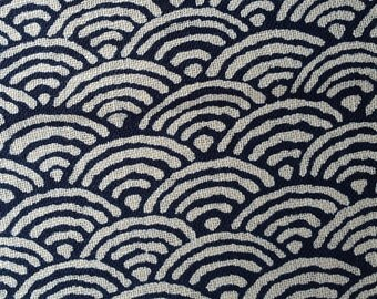Japanese Wave Print Fabric on Cotton Fabric 0.25m