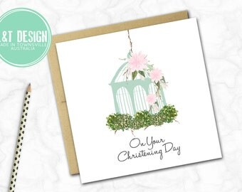 Christening Mini Card {Teal blue}