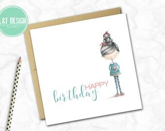 Birthday Girl Mini Card