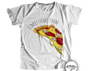 Loved More Than Pizza, Pizza Shirt, Baby Pizza Clothes, Pizza TShirt, Pizza Bodysuit, Pizza Clothing, Pizza Gifts, Pizza Lovers