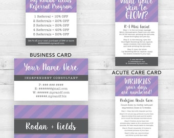 Rodan and Fields Business Cards Group Purple | Customized Printable