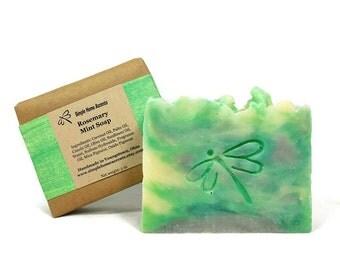 Rosemary Mint Soap, Handmade Soap, Vegan Soap, Gift under 10