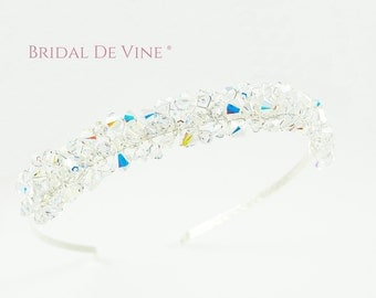 Sparkly Crystal Head Band Tiara Made with CRYSTALLIZED™ - Swarovski Elements