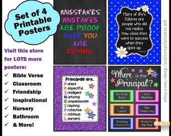 Principal Gift, School Principal Sign, Where is the Principal, Door Sign, Principal Office, Printable Door Sign, Gift for School Principal
