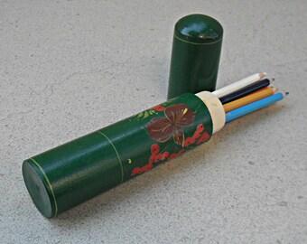 Wooden pencil box , pencil case ' pencil box , Russia - 1990s.