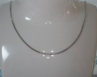 9ct White Gold Curb Link Necklace Chain