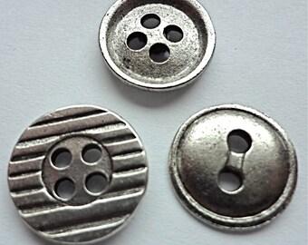 Buttons push pin 15pc set  T-85 FREE SHIPPING