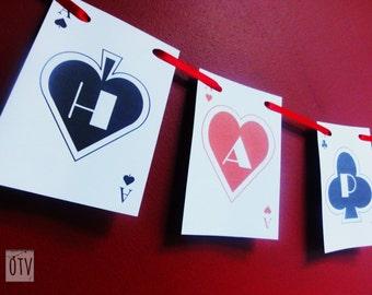 CASINO/Las Vegas - Poker - Bunting - Garland - Personalised - Birthday - Bachelorette - Bachelor - PRINTABLE - Pdf - Digital Files