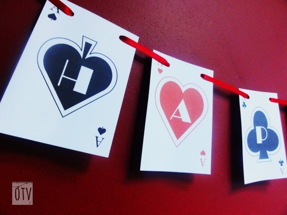 CASINO/Las Vegas - Poker - Bunting - Garland - Personalised - Birthday - Bachelorette - Bachelor - PRINTABLE - Pdf - Digital Files