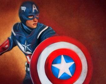 Captain America/Chris Evans Digital Artwork