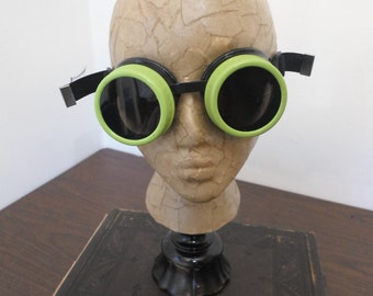 Lime Green Goggles - Welding Goggles, Cosplay Goggles, Costume Goggles