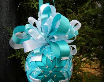 Snowy Quilted Ornament
